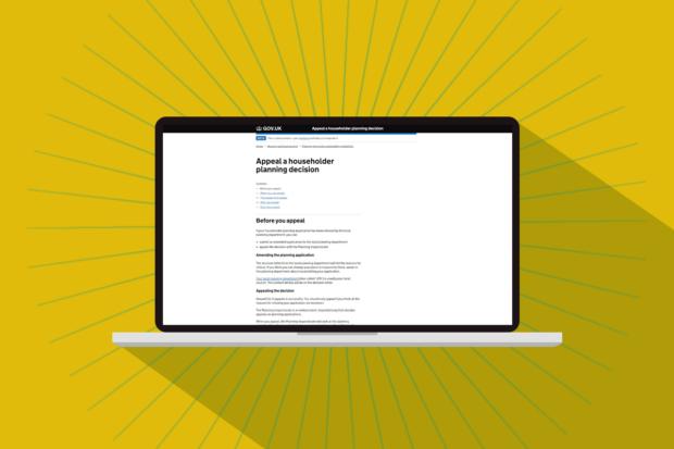 Laptop showing appeals service web page